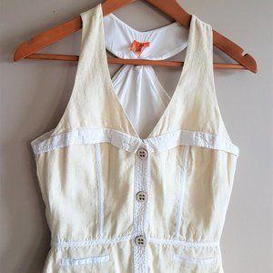 BCBG Linen&Cotton Blend Vest.